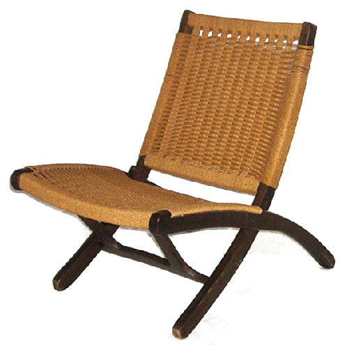 Jute and Wood Chair