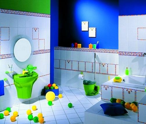 Kids friendly décor for bathroom