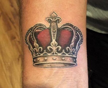 Royal Crown Tattoo Designs For Men