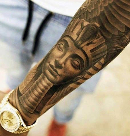 King Tut With Wings design