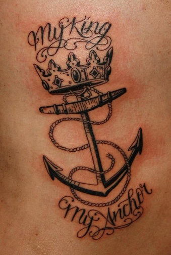 King and Anchor Tattoo
