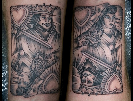 King and Queen pair tattoo design