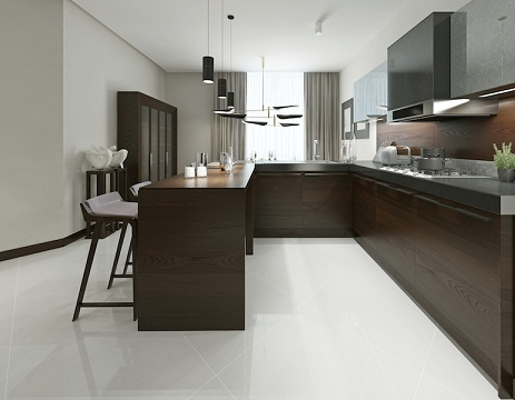 Kitchen with Chocolate Colour Furniture