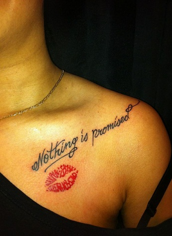 LIP TATTOOS WITH A MESSAGE
