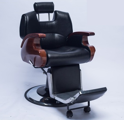 Leather Barber Chair with Powerful Hydraulic