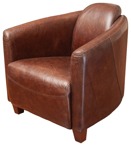 8 contemporary modern club chairs styles at life for Modern leather club chair