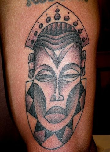 Lovely African Mask Tattoo Design