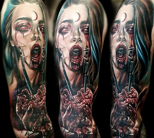 Macabre witch Tattoos