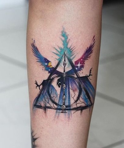 Magical Deathly Hallow Tattoo