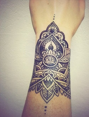 Mandala Tattoo For Wrist