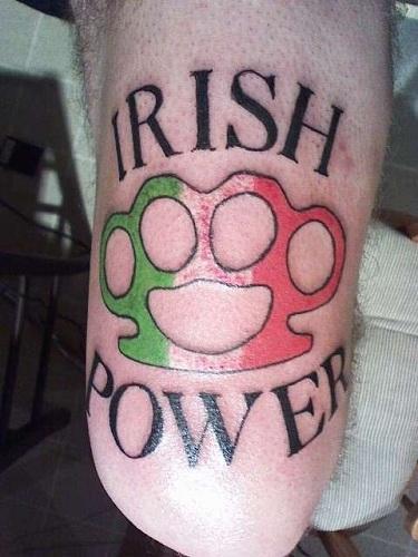 Marvellous Irish Flag Tattoo Design