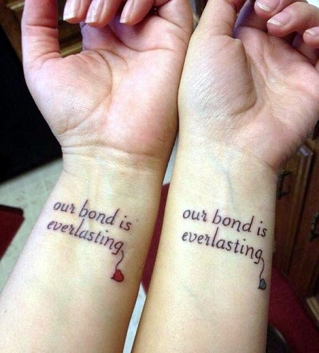 25 Stylish & Cute Matching Tattoos for Couples - Matching Word tattoo design