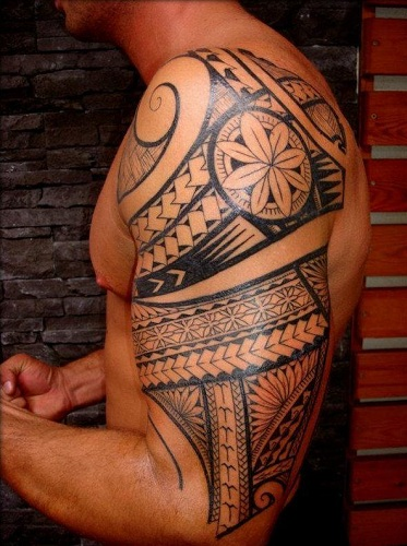 Mayan Tribal Arm Tattoo