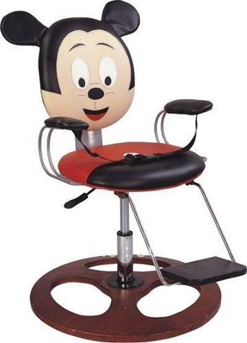Mickey Mouse Shaped Kids Barber Chair