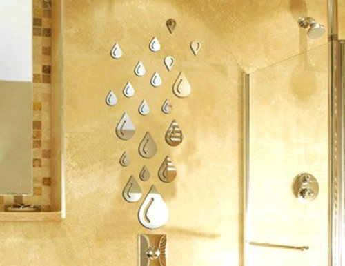 Mirror decoration in bathroom decor
