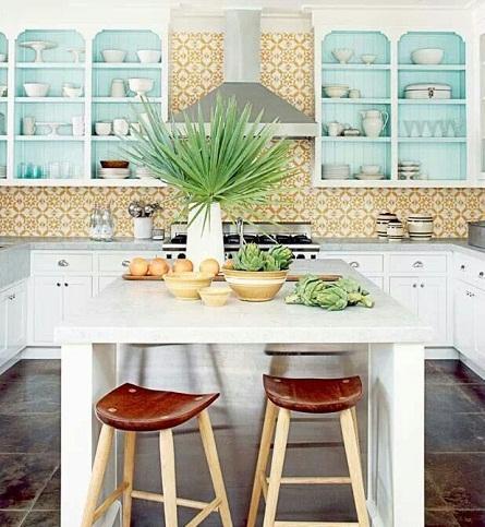 Moroccan Open Cabinet Kitchen Design