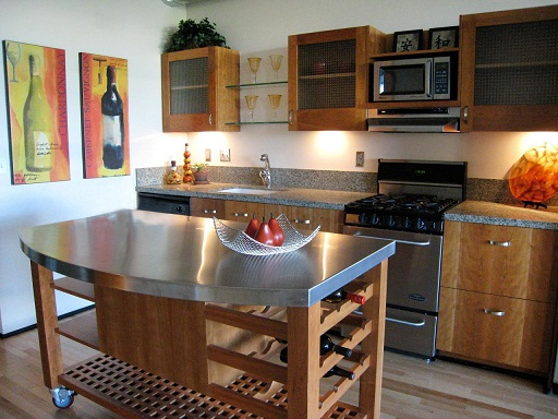 Movable counter top kitchen design