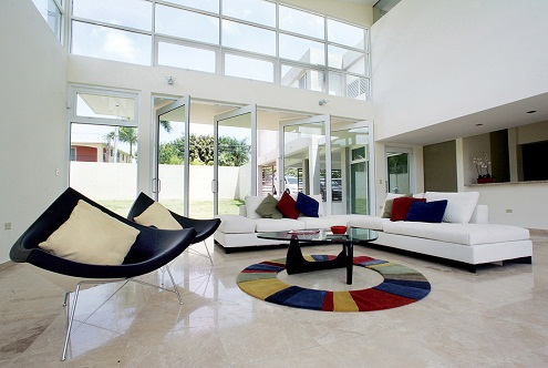 Multi-coloured style Living Room Décor