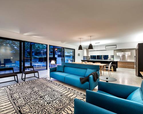 Oceanic Blue Living Room
