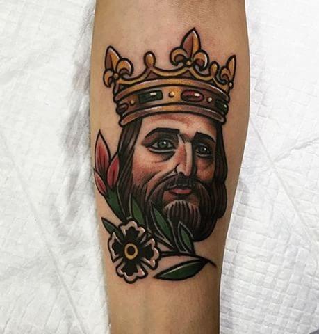 Old School King Tattoo