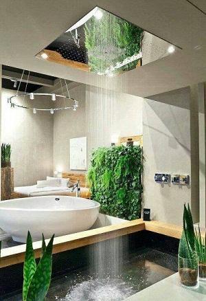 Open shower for bathroom