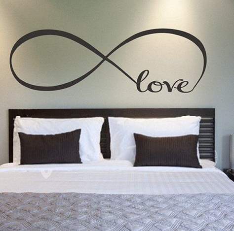Painted Infinity Symbol Wall Design