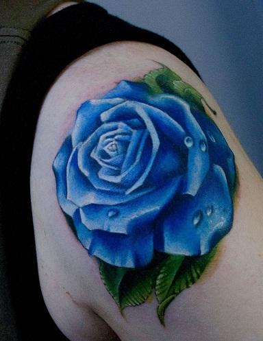 blue tattoo designs