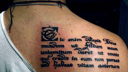 Philosophical Latin tattoo designs