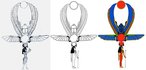 Phoenix Ankh Tattoo Design