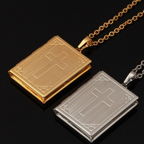 Photo Memory Cross Locket
