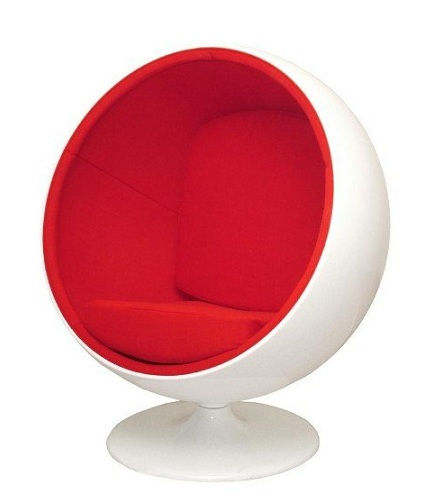 Plastic Ball Chair with Cushion