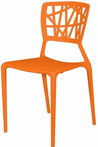 Plastic Geometric Design Chair