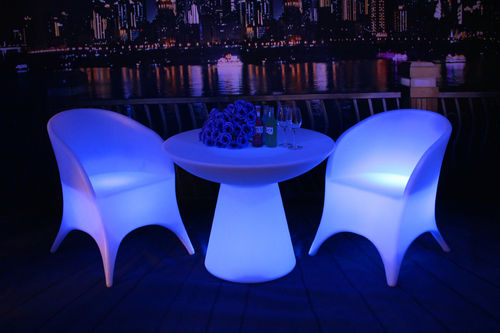 Plastic LED Chair