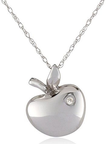 Platinum Apple Diamond Locket