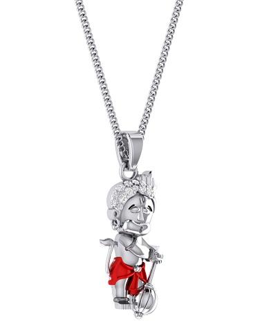 Platinum Bal Hanuman Locket