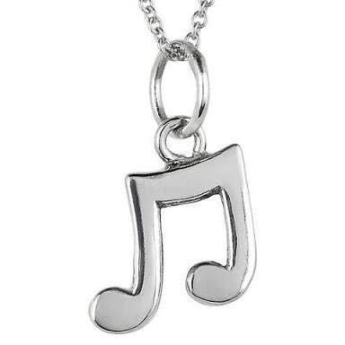 Platinum Musical Note Locket