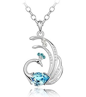 Platinum Peacock Locket