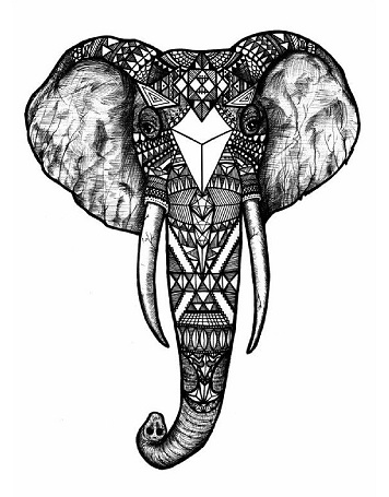 Powerful Tribal Elephant Africa Tattoo