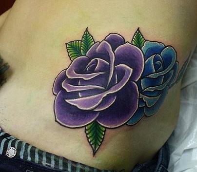 Purple tattoo in Rose