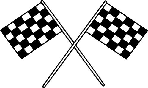 Racing Flag Tattoo Design