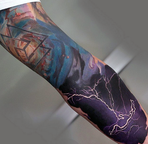 Realistic lightning tattoo designs
