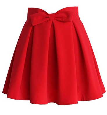Red Skirts with Bowknots Style5