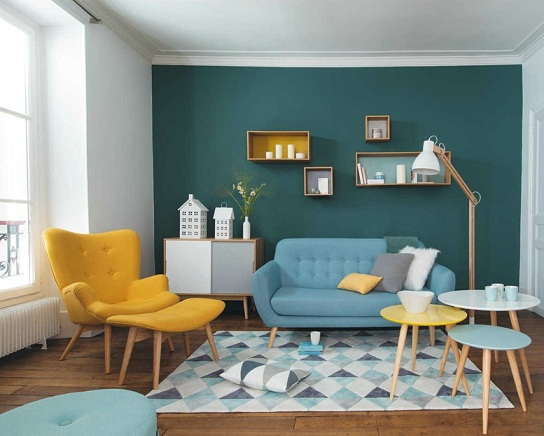 Retro living room designs