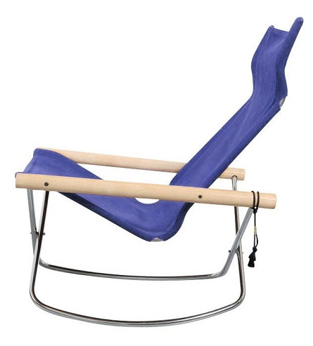 Rocking Blue Folding Chairs