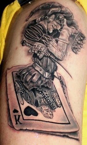 Royal King and Joker Tattoo