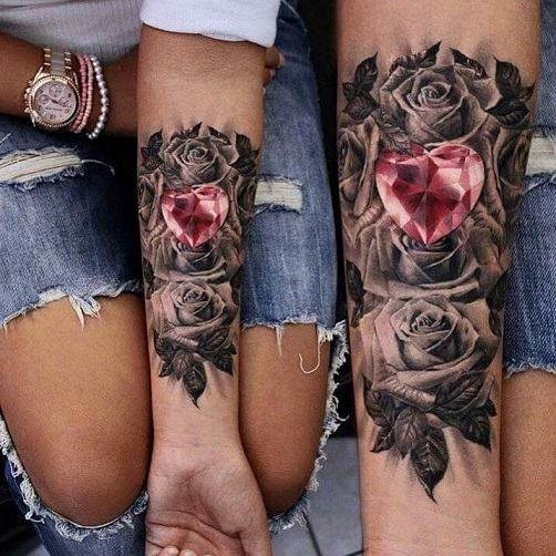 Ruby Jewel Tattoos