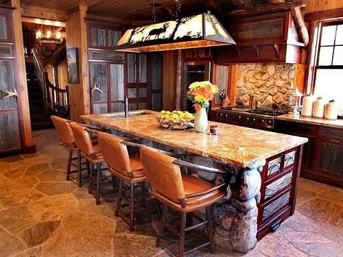 Rustic designer kitchen