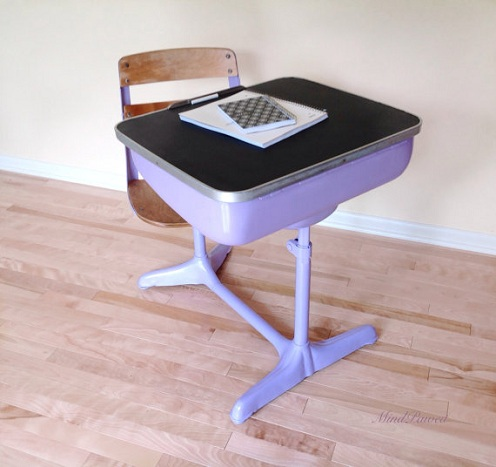 School Chair with Desk Attached