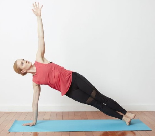 Side Planks – Hand Raises