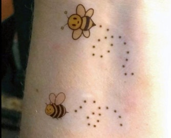 Simple Honey Bee Temporary Tattoos